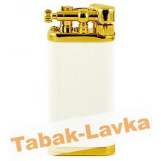 Зажигалка трубочная Im Corona 64-5110 Old Boy White Goldplated