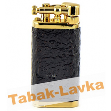 Зажигалка трубочная Im Corona 64-5003 Old Boy Gold Plated Sandblast Briar