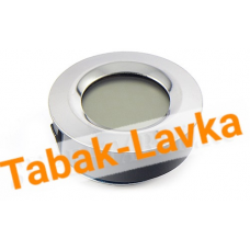 Термо-Гигрометр цифровой круглый (серебро) - Арт. 596-503