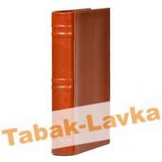 Хьюмидор Дорожный Книга Lubinski на 10 сигар арт. Q123А Коричневая Кожа