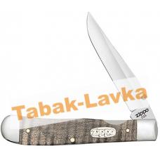 Нож перочинный Zippo - Natural Curly Maple Wood Trapperlock + Зажигалка (50609_207)