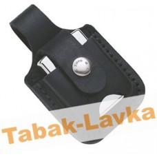 Чехол для зажигалки  Zippo  черный с петлей - LPTBK (с отверстием для пальца)
