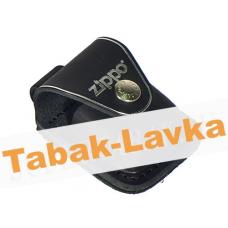 Чехол для зажигалки  Zippo  черный с петлей - LPLBK