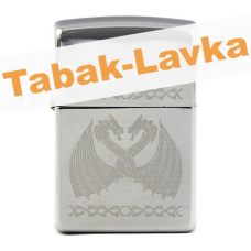 Зажигалка Zippo 29988 - Dancing Dragons - High Polish Chrome