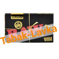 Бумага самокруточная RAW - DOUBLE Classic BLACK (100 шт)