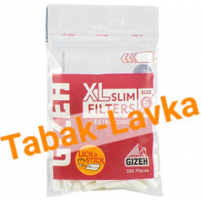Фильтры для самокруток 6мм Gizeh XL-Slim - Extra Long (100 шт)