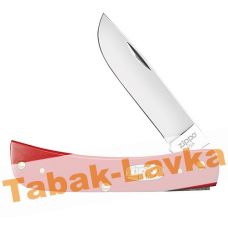Нож перочинный Zippo - Red Synthetic Smooth Sodbuster Jr + Зажигалка (50517_207)