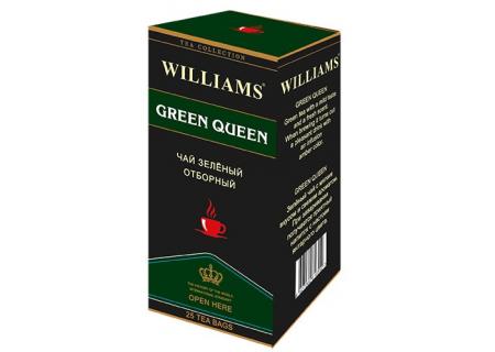 Чай Williams - Green Queen (зеленый) - (25 пакетиков)