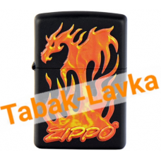 Зажигалка Zippo 29735 - Flaming Dragon - Black Matte