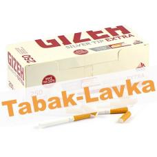 Сигаретные гильзы Gizeh Sliver Tip EXTRA Long filter (250 шт)