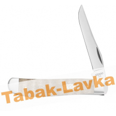 Нож перочинный Zippo - Natural Curly Maple Wood Mini Trapper + Зажигалка (50606_207)