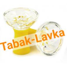Чашка для кальяна стеклянная (витра) - желтая
