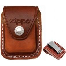 Чехол для зажигалки  Zippo  коричневый с металл. клипсой LPCB