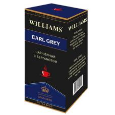 Чай Williams - Earl Grey (черный с бергамотом) - (25 пакетиков)