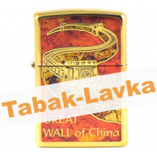 Зажигалка Zippo 29244 - Great Wall of China - High polish Brass