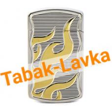 Зажигалка Tiger - LC 712 J (серебро - жёлтое пламя)