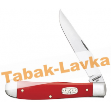 Нож перочинный Zippo - Red Synthetic Smooth  Trapper + Зажигалка (50518_207)