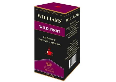 Чай Williams - Wild Fruit (шиповник, каркаде, малина) - (25 пакетиков)