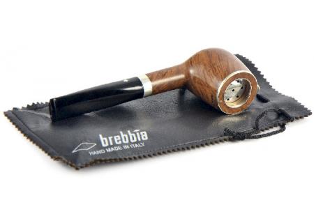 Трубка Brebbia - Italia - Pura Noce 100 Silver Cap (фильтр 9 мм)