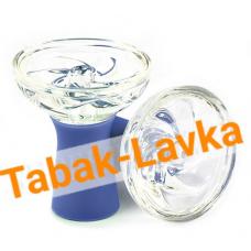 Чашка для кальяна стеклянная (витра) - синяя