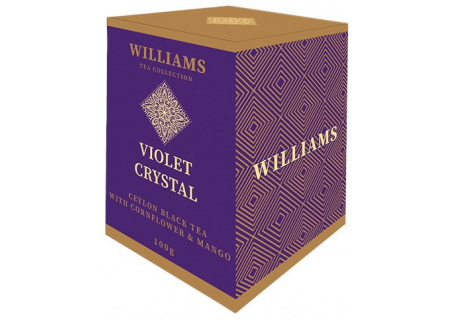 Чай Williams - Violet Crystal (черный с лепестками василька и кусочками манго) - (200 ГРАММ)