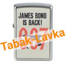 Зажигалка Zippo 29563 - James Bond - Brushed Chrome