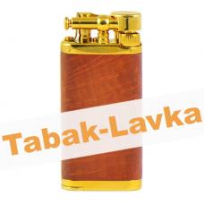 Зажигалка трубочная Im Corona 64-5009 Old Boy Gold Plated Narural Briar
