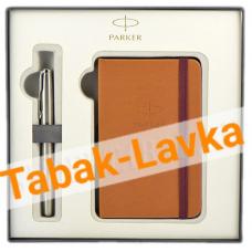 Подарочный набор PARKER - Sonnet Stainless Steel + блокнот  (2018973)
