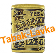 Зажигалка Zippo 49001 - Armor™ - Ouija Board Design - Antique Brass