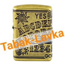 Зажигалка Zippo 49001 - Armor™ - Ouija Board Design - Antique Brass