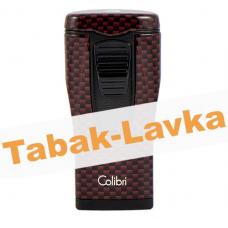 Зажигалка Colibri Monaco - LI 880 T12 (Carbon Fiber - Red)
