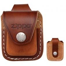 Чехол для зажигалки  Zippo  коричневый с петлей LPLB