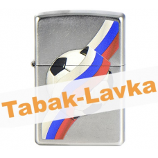 Зажигалка Zippo 207 - Russian Soccer Ball - Street Chrome™