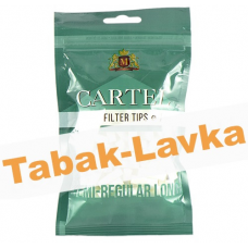 Фильтры для самокруток 7 мм Cartel Regular Long (100 шт) - (зеленые)